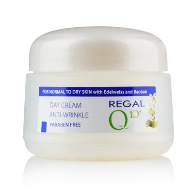 Дневен крем Regal Q10+ еделвайс и боабаб за нормална към суха кожа
