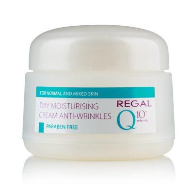 Дневен овлажняващ крем Regal Q10+ за нормална и смесена кожа