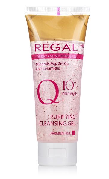Почистващ измивен гел Regal Q10+ за суха и чувствителна кожа