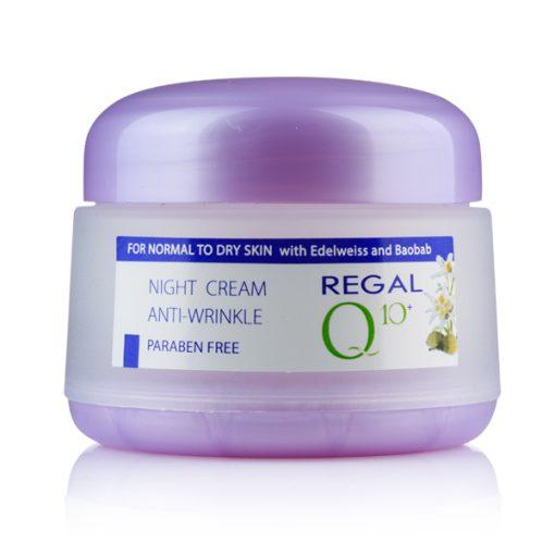 Нощен крем Regal Q10+ еделвайс и боабаб за нормална към суха кожа