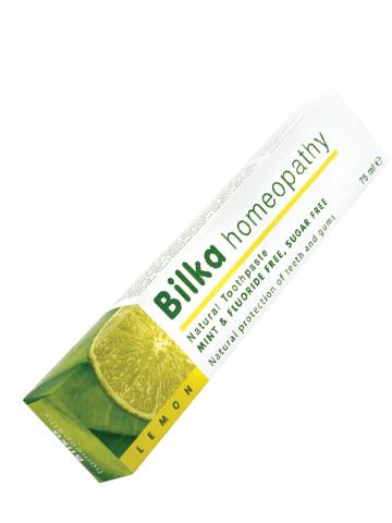 Натурална паста за зъби Bilkahomeopaty с избелващ ефект Лимон