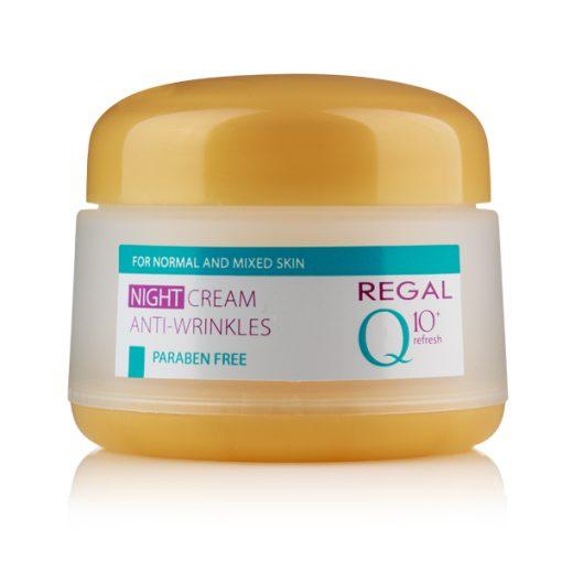 Нощен крем против бръчки Regal Q10+ за нормална и смесена кожа