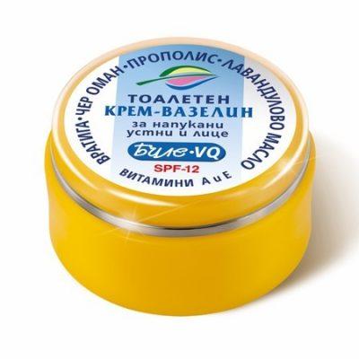 Тоалетен крем-вазелин за напукани устни и лице Биле - VQ