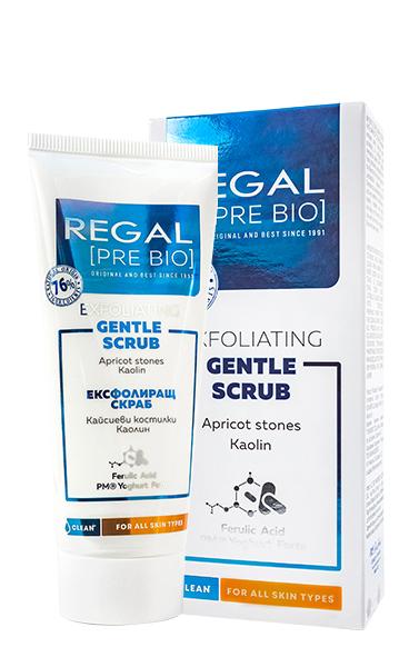 Regal Pro Bio ексфолиращ почистващ скраб с кайсиеви костилки 100 мл.