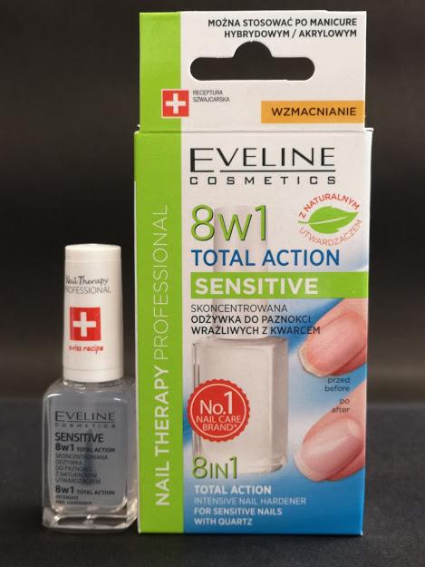 Eveline Интензивен заздравител за нокти 8 в 1 Total Action Sensitive