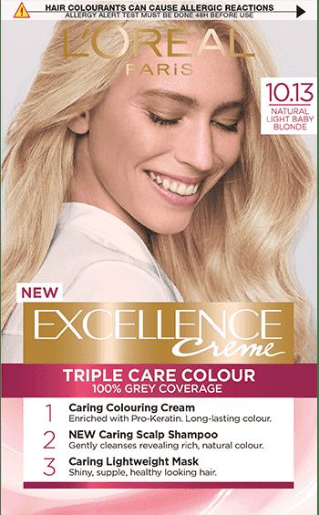 Excellence Creme L'Oreal Боя за коса № 10.13 естествено бебешко русо