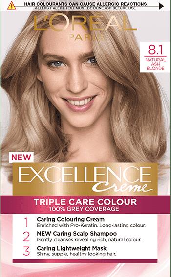 Excellence боя за коса № 8.1 естествено Пепеляво Рус