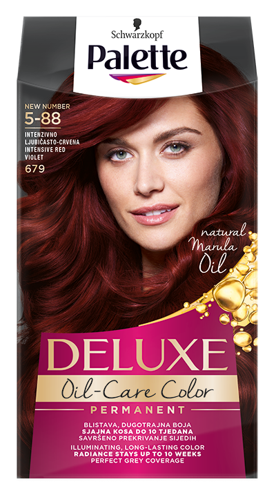 Palette Deluxe боя за коса № 5-88 / 679 Наситено червено виолетов