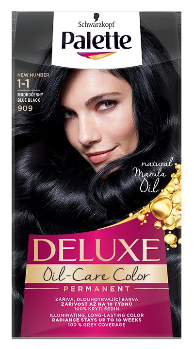 Palette Deluxe боя за коса № 1-1/ 909 Синьо-черен