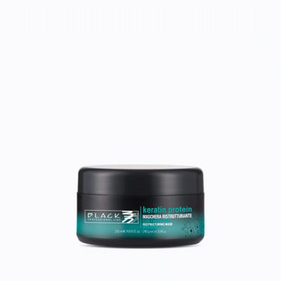 Black keratin protein възстановяваща маска за коса - 250 мл.